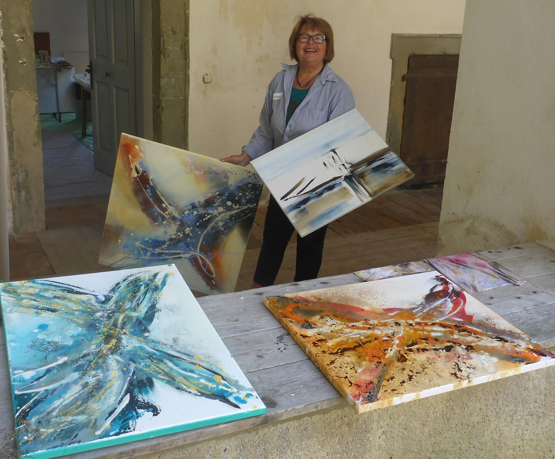 Aflenzer Kunstwochen - Acryl Kurs mit Eftichia Schuster-Szentmiklosi (Schlamadinger)
