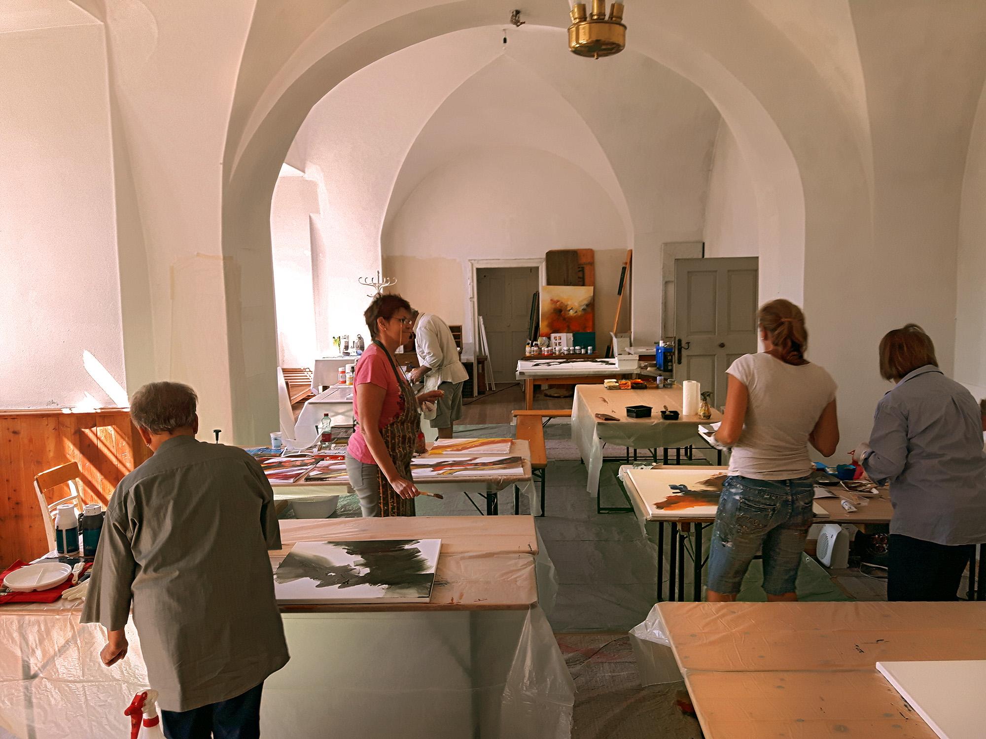 AKW aflenzer Kunstwochen 2016 in der Propstei Aflenz - Acrylkurs