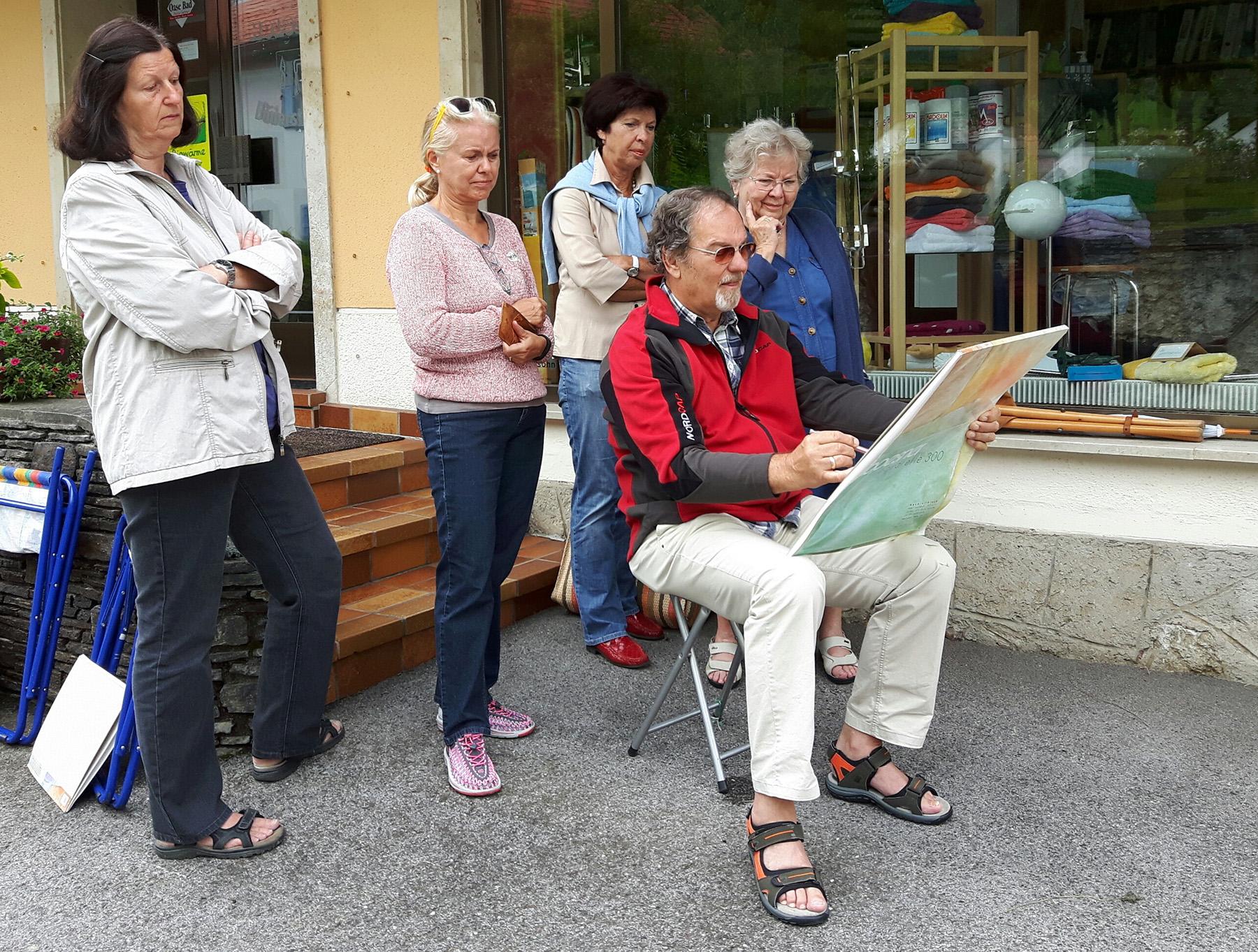 Aquarellkurs mit Reg.-Rat Werner F. Uhl - Aflenzer Kunstwochen
