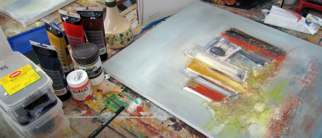 Acrylmalerei Kurs Aflenzer Kunstwochen - mit Eftichia Schlamadinger